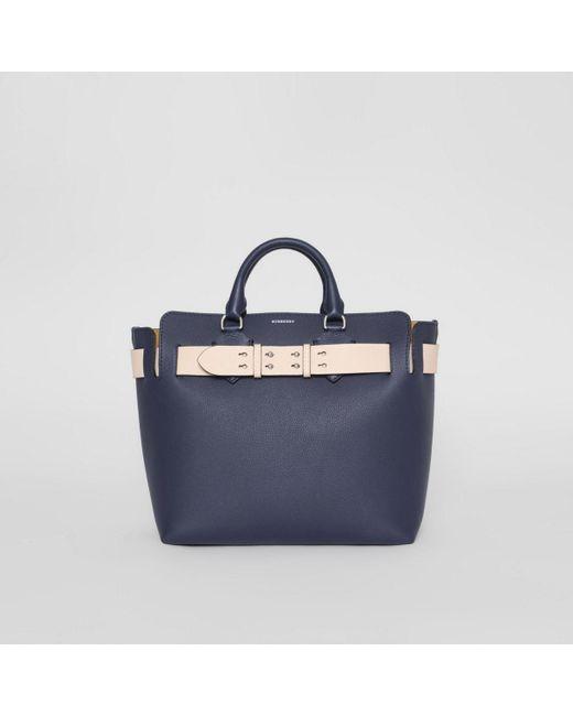 7c753c81de Burberry - Blue The Medium Leather Belt Bag - Lyst ...