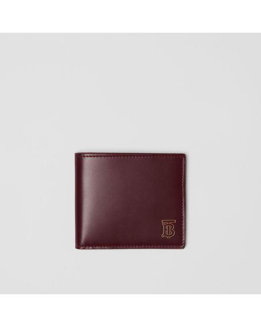 fe60209c7352 Burberry - Purple Monogram Motif Leather International Bifold Wallet for Men  - Lyst ...