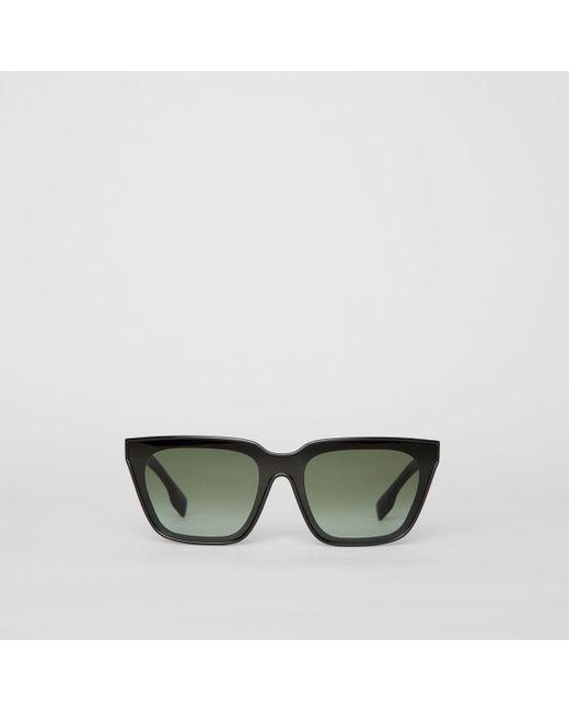 b46d59922c4a Burberry - Black Square Frame Shield Sunglasses - Lyst ...