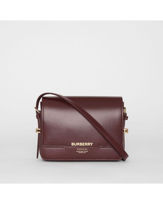 842a13391678 Burberry - Purple Small Leather Grace Bag - Lyst ...