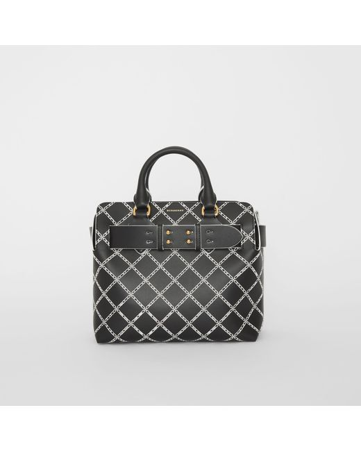 Burberry - Black The Small Perforated Link Leather Belt Bag - Lyst ... 62d254ebb24ba