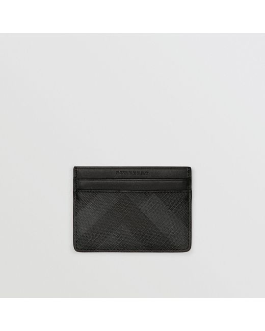 Burberry - London Check Card Case In Charcoal/black - Men | Burberry for Men - Lyst