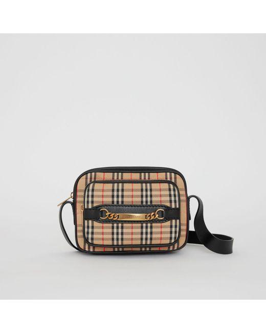 a5ba5a03e1ed Burberry - Black The 1983 Check Link Camera Bag for Men - Lyst ...