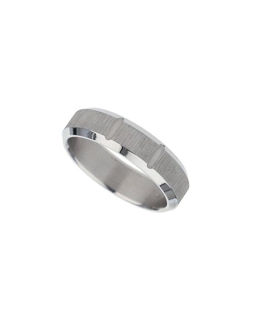 Burton - Gray Silver Etched Ring for Men - Lyst