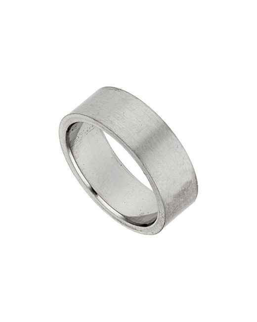 Burton - Gray Stainless Steel Ring for Men - Lyst