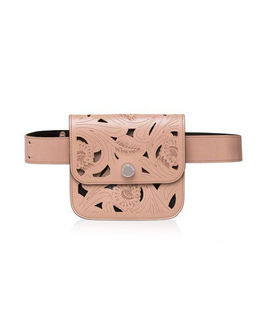 Emporio Armani | Multicolor Laser Cutout Leather Belt Bag | Lyst