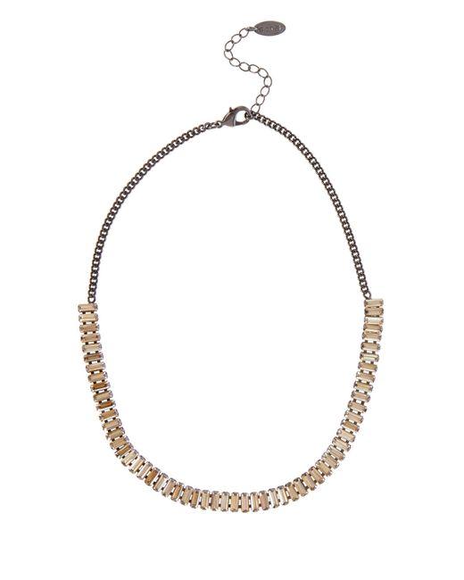 Coast | Metallic Baguette Stone Necklace | Lyst