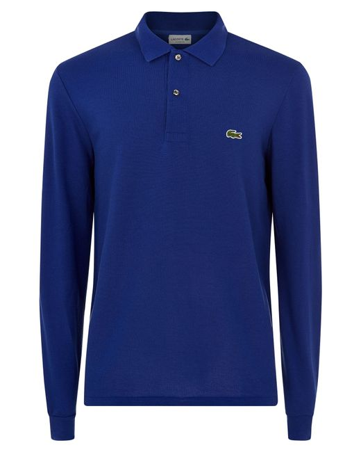 Lacoste | Blue Classic Long Sleeved Polo Shirt for Men | Lyst
