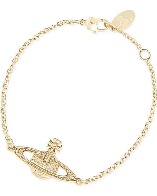 Vivienne Westwood | Metallic Bas Relief Diamanté Orb Bracelet | Lyst