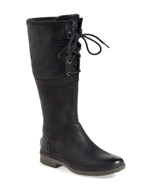 Ugg | Black Ugg 'elsa' Waterproof Boot | Lyst