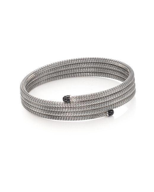 John Hardy | Metallic Classic Chain Black Sapphire & Sterling Silver Small Multi-row Coil Bracelet | Lyst