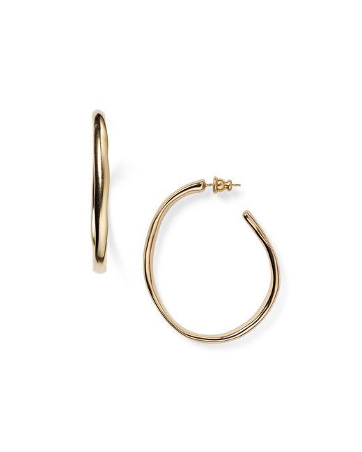 Uno De 50 | Metallic Ohm Hoop Earrings | Lyst