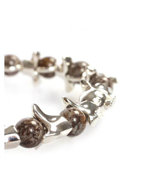 Shaun Leane | Black Vertebrae & Onyx Fossil Bracelet Silver/brown for Men | Lyst