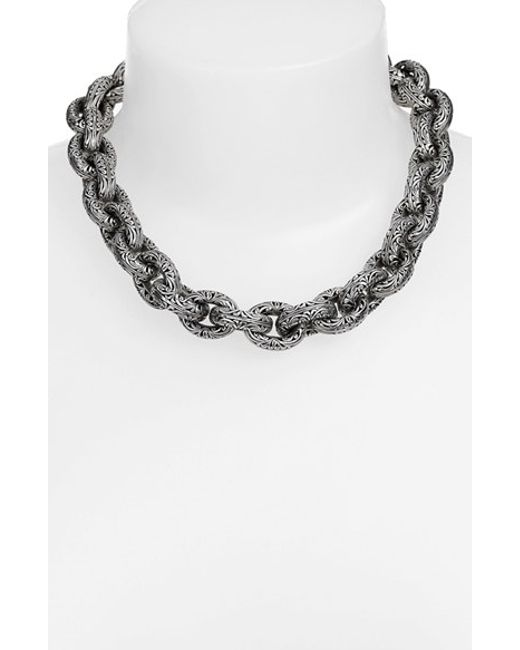 Konstantino | Metallic Sterling Silver Etched Link Neckace | Lyst
