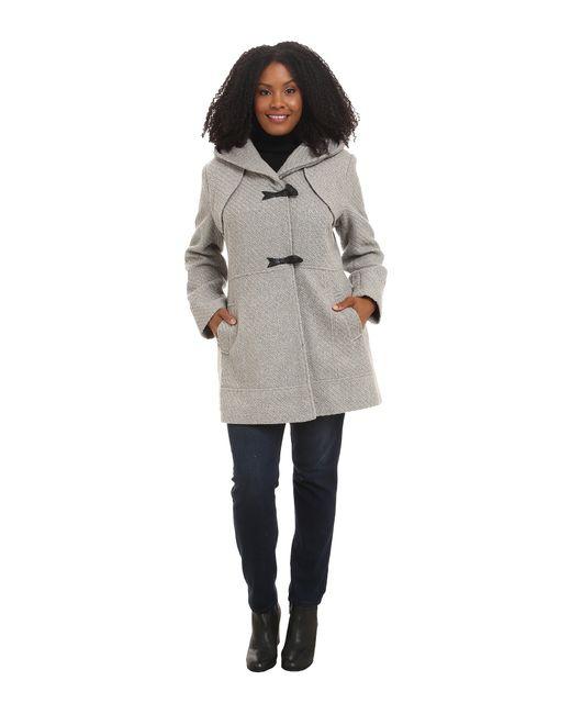 Jessica Simpson | Gray Plus Size Braided Wool Duffle Coat | Lyst