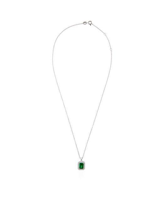Carat* | Green 1.5ct Emerald Border Necklace | Lyst