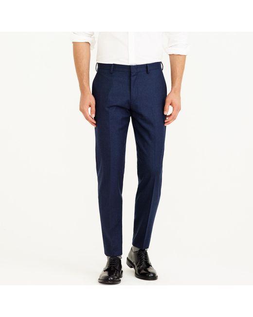 J.Crew | Blue Ludlow Suit Jacket In Heathered Italian Wool Flannel for Men | Lyst