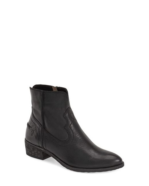 Frye | Black 'ray Seam' Short Boot (women) | Lyst