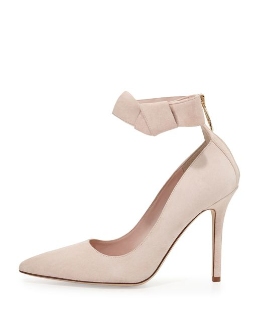kate spade levie suede ankle in pink pale