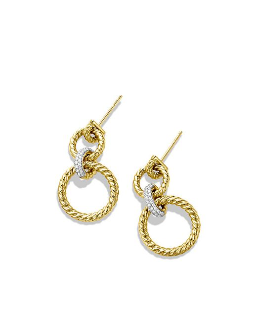 David Yurman | Metallic Cable Classics Doorknocker Earrings With Diamonds In 18k Gold | Lyst