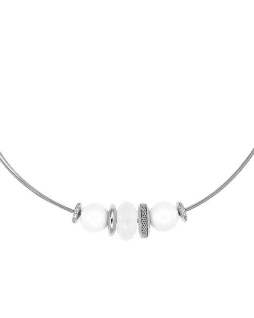 Skagen | Metallic Artisan Inspired White Sea Glass Necklace | Lyst