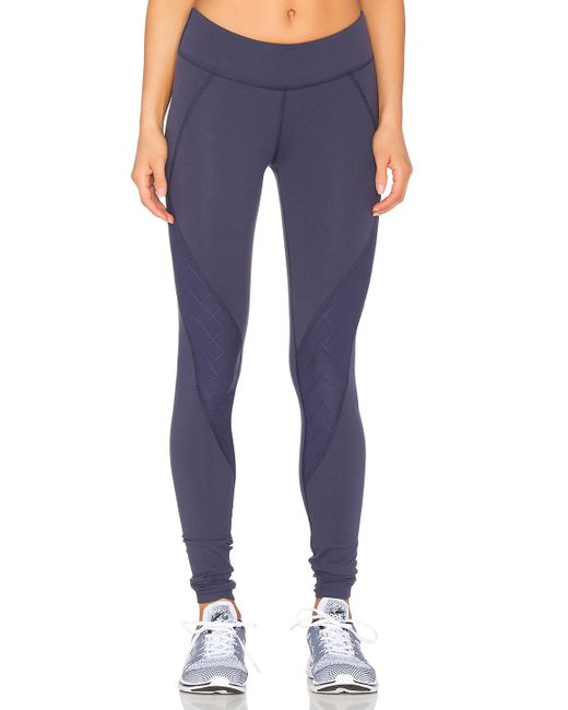 Beyond Yoga Quilted Contour Long Legging In Blue (True