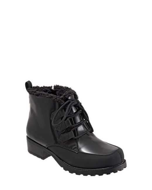 Trotters | Black Lace-Up Weatherproof Boots  | Lyst