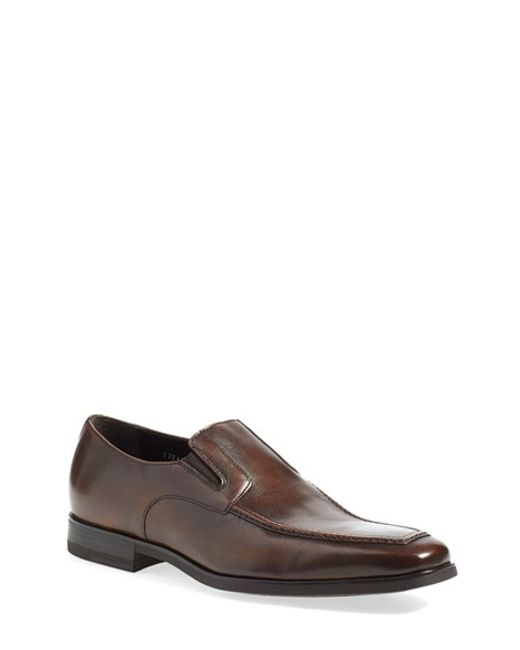 Santoni | Black 'blaze' Venetian Loafer for Men | Lyst