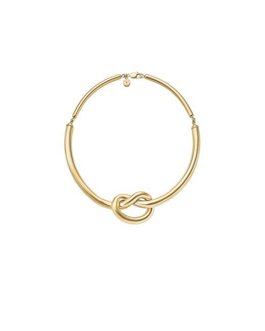 Michael Kors | Metallic Gold-tone Knot Necklace | Lyst