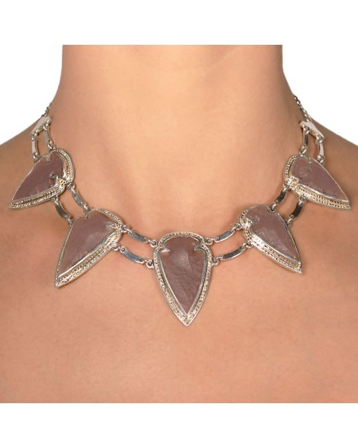 Pamela Love | Metallic Arrowhead Collar | Lyst