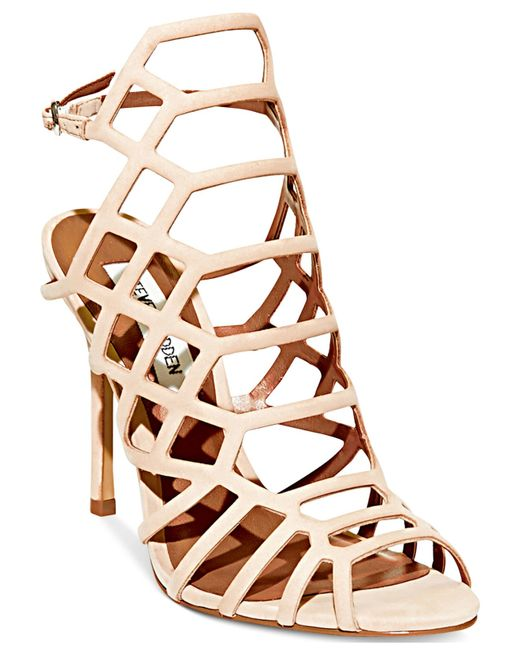 Steve Madden | Brown Women's Slithur Caged Sandals | Lyst