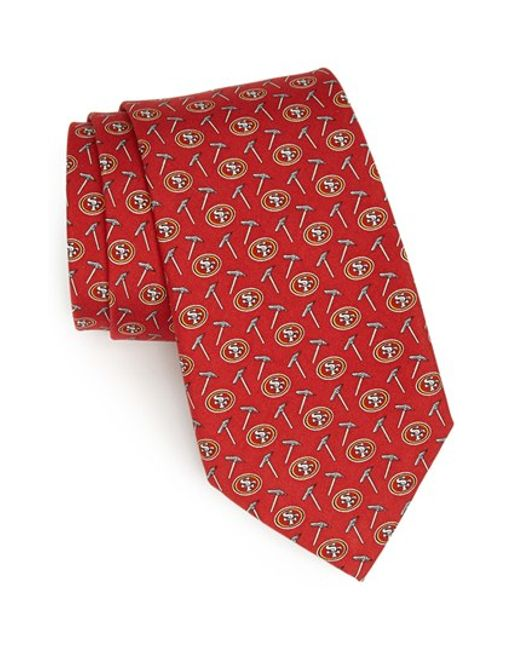 Vineyard Vines San Francisco 49ers Print Tie In Red For