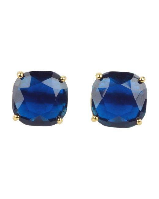 kate spade new york | Blue Small Square Studs | Lyst