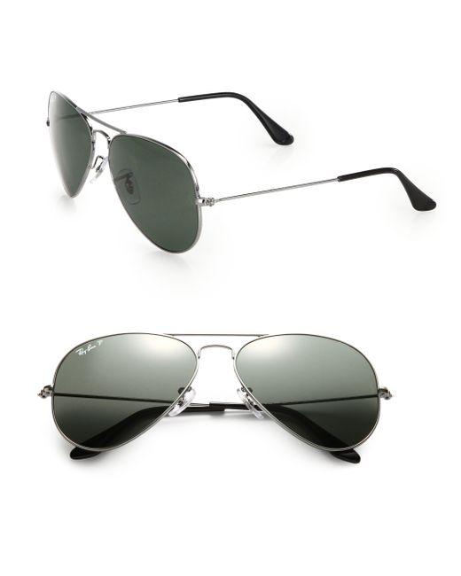Ray-Ban   Metallic 58mm Aviator Sunglasses for Men   Lyst
