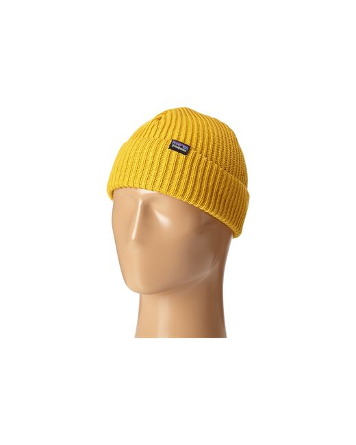 Patagonia | Yellow Fishermans Rolled Beanie | Lyst