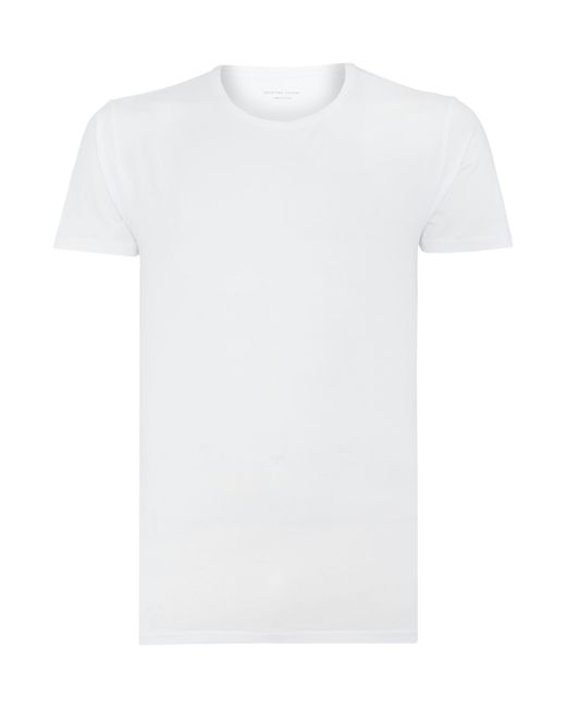 SELECTED | White Plain T-shirt for Men | Lyst