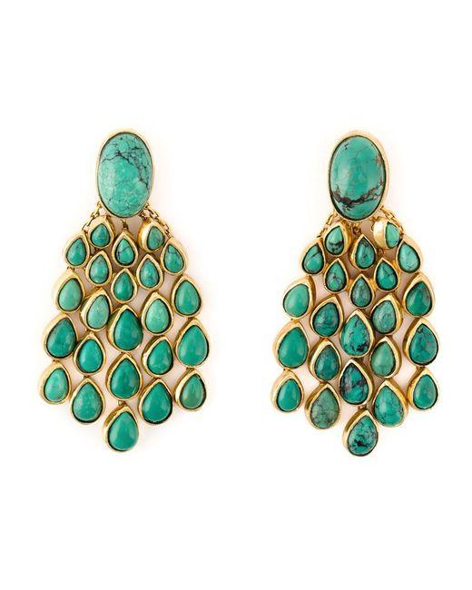 Aurelie Bidermann | Green 'cherokee' Earrings | Lyst
