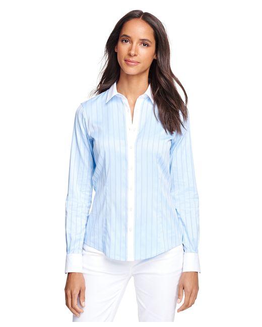 Brooks Brothers | Blue Tailored Fit Cotton Herringbone Dress Shirt | Lyst