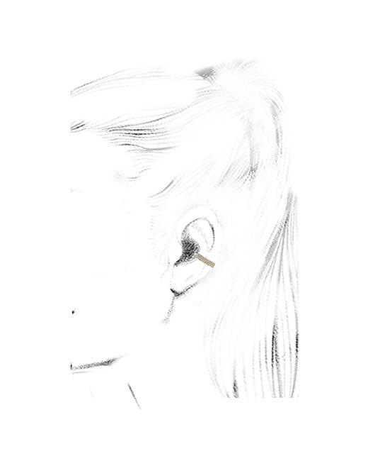 Anita Ko   Metallic Gold Double Row Diamond Ear Cuff   Lyst