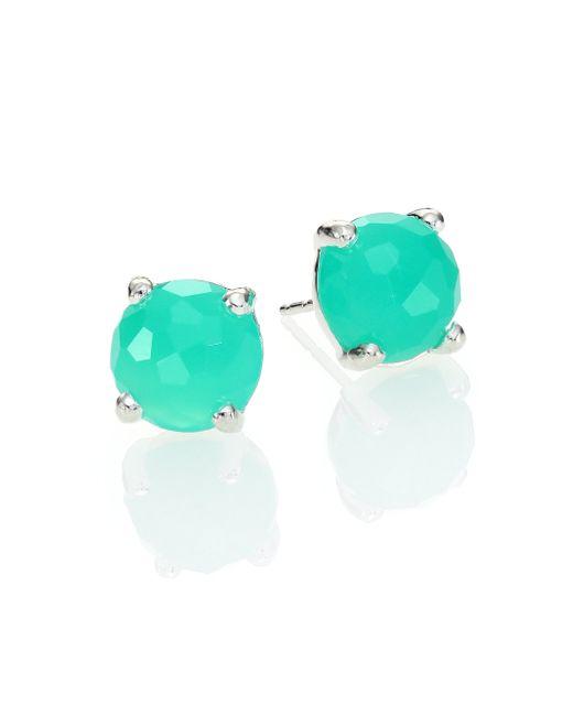 Ippolita | Green Rock Candy Chrysoprase & Sterling Silver Mini Stud Earrings | Lyst