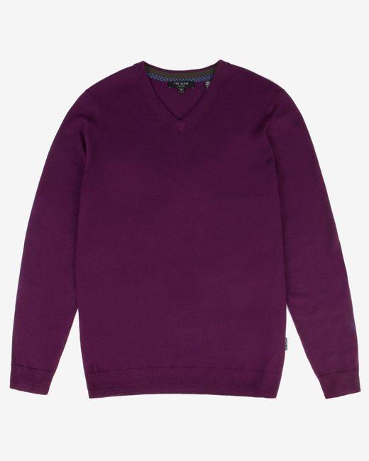 Ted Baker | Purple Merino Wool Jumper for Men | Lyst