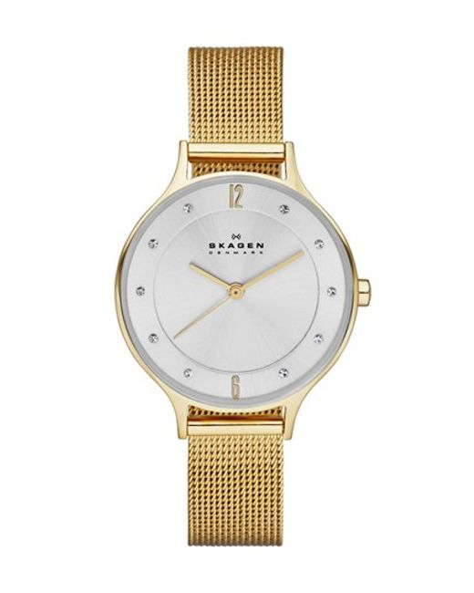 Skagen | Metallic 'anita' Crystal Index Mesh Strap Watch | Lyst
