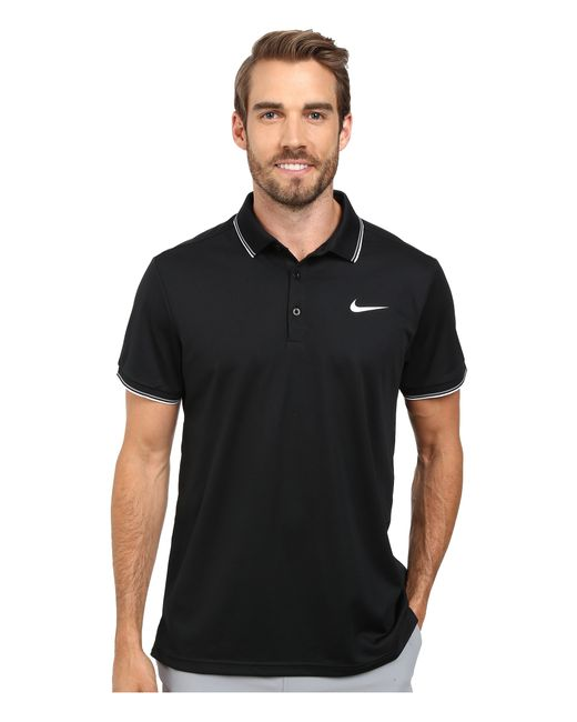 Nike | Black Court Polo for Men | Lyst