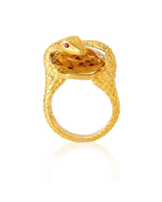 Alexandra Alberta | Metallic Gaia Quartz Ring | Lyst