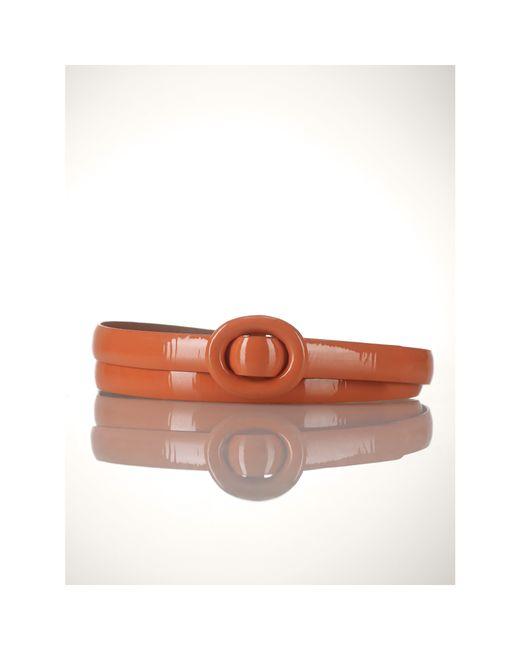 Polo Ralph Lauren | Orange Patent Leather Belt | Lyst