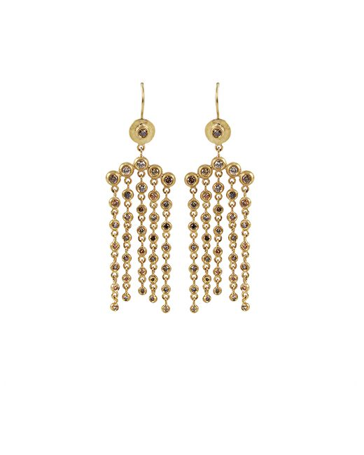 Annie Fensterstock | Metallic Cascade Natural Fancy Color Diamond Earrings | Lyst