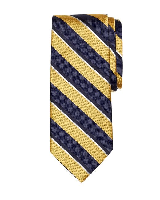 Brooks Brothers | Metallic Mixed Weave Sidewheeler Stripe Tie for Men | Lyst