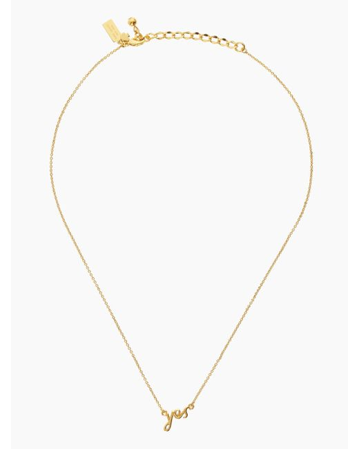 Kate Spade | Metallic Say Yes Necklace | Lyst