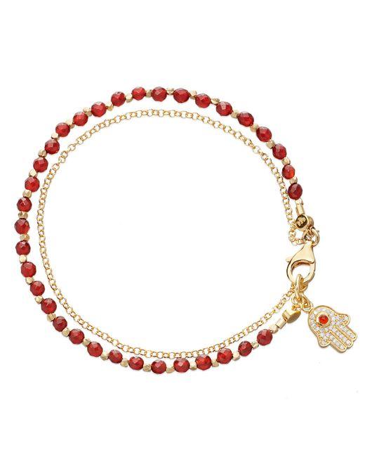 Astley Clarke | Hamsa Red Agate Friendship Bracelet | Lyst