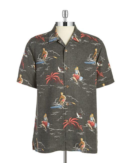 Tommy Bahama Silk Hawaiian Shirt In Multicolor For Men